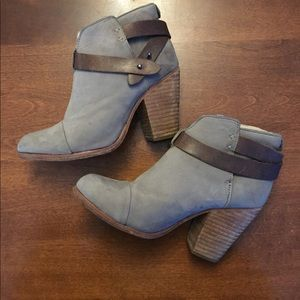 Rag & Bone Strapped Leather Ankle Boot